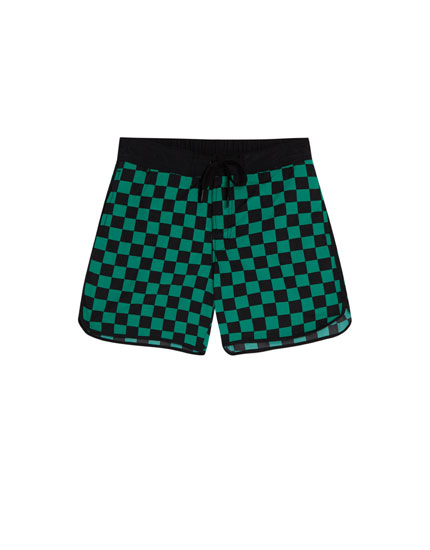 Racing print swimming trunks
