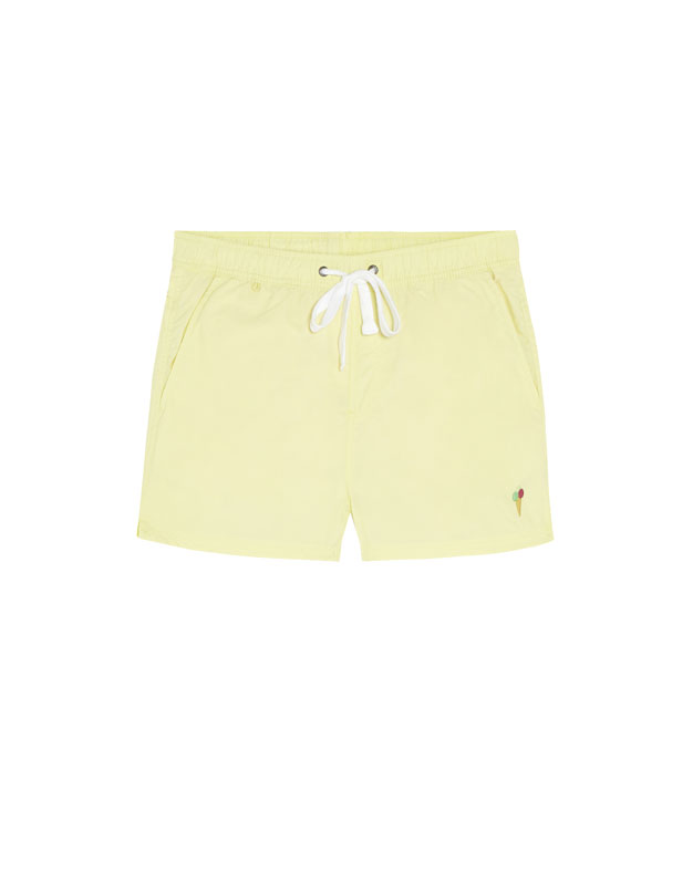 PullAndBear - plain swimming trunks in a variety of colours - yellow - 05800512-V2018