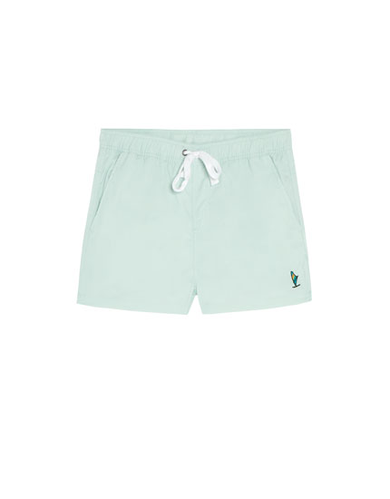 Plain swimming trunks in a variety of colours