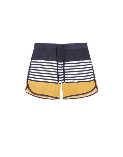 Panelled board shorts