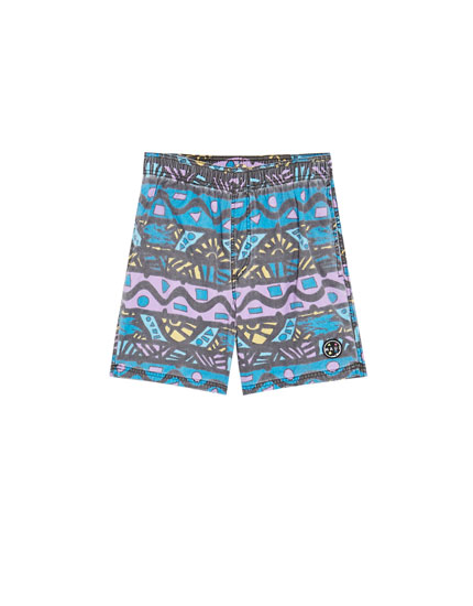 Printed Maui and Sons swimming trunks
