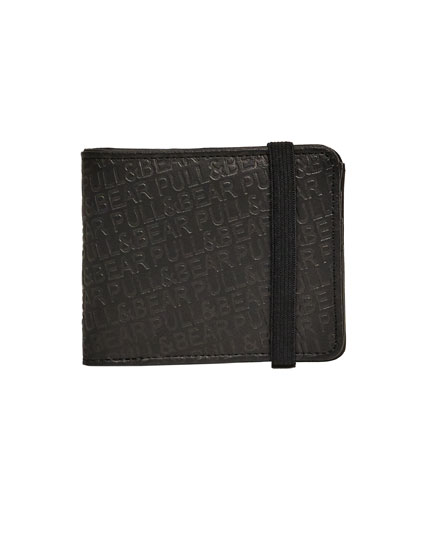 Rubber wallet with embossed logo