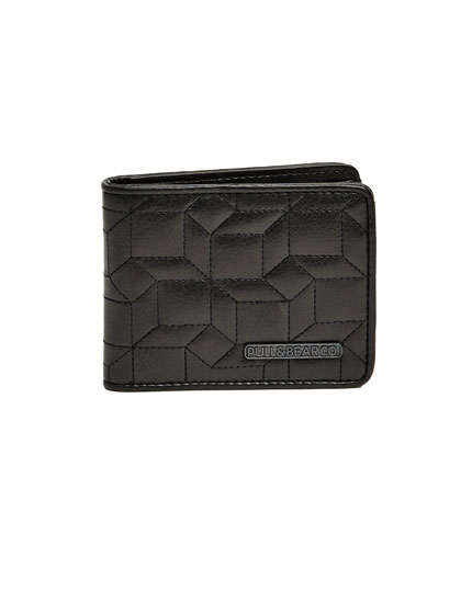 Embossed geometric wallet