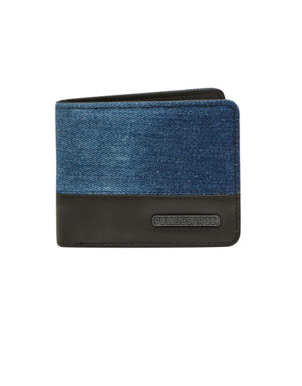 Two-tone denim wallet