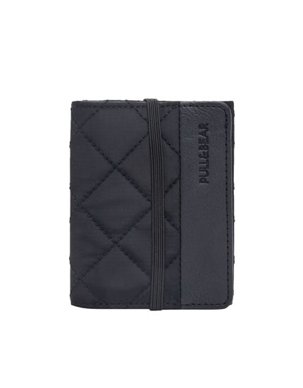 Wallet with nylon elastic detail