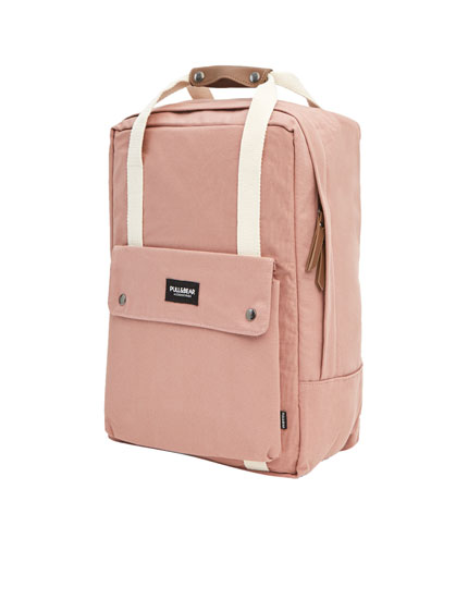 Colourful backpack with contrasting straps