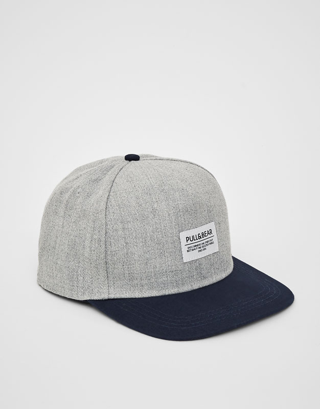 PullAndBear - grey logo cap - others - 05830509-V2018