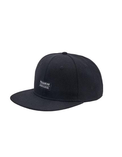 Basecap in Schwarz mit Logo