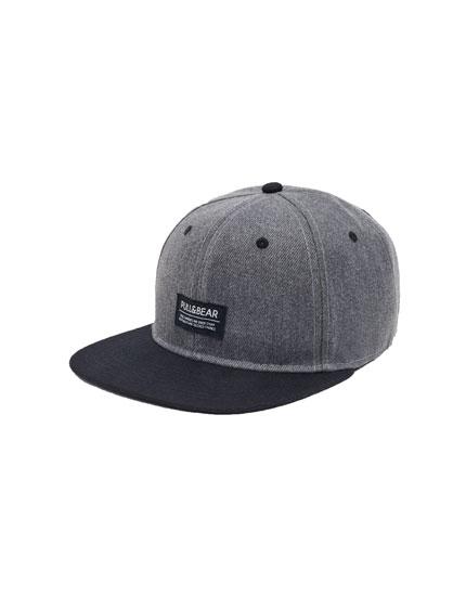 Basecap in Grau mit Logo
