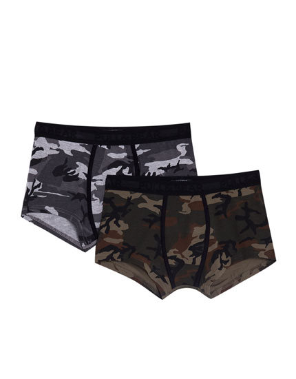 Pack 2 boxers camouflage