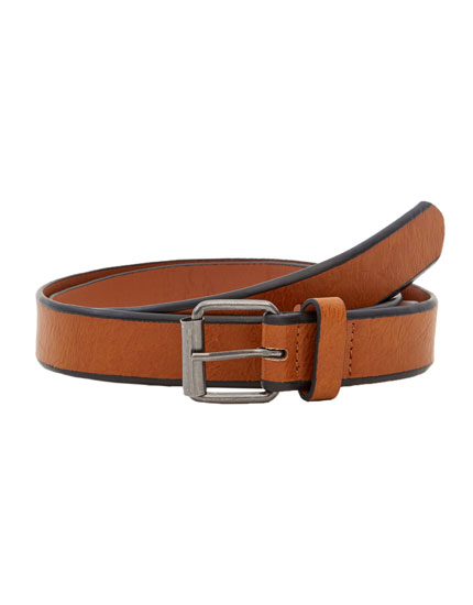 Two-tone striped belt