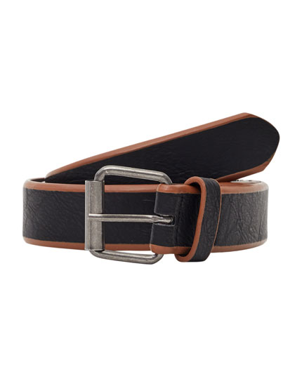 Two-tone striped belt