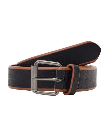 Cinturón rayas bicolor