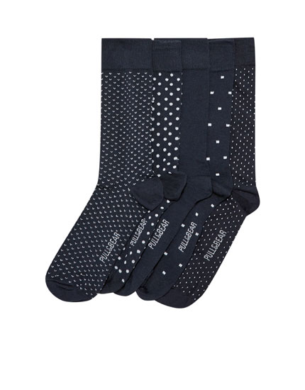 5-pack of long polka dot socks