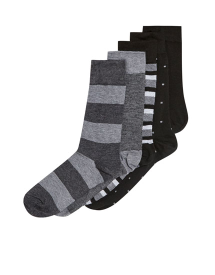Pack of 5 pairs of long socks