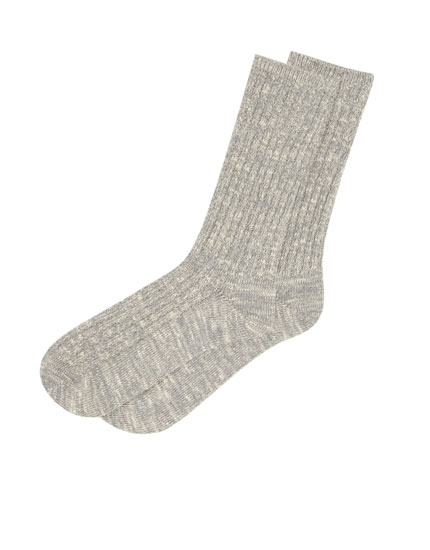 Long flecked socks