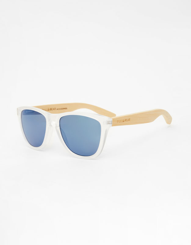sunglasses-with-wooden-temples by pull-&-bear