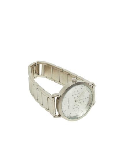 Classic metallic watch