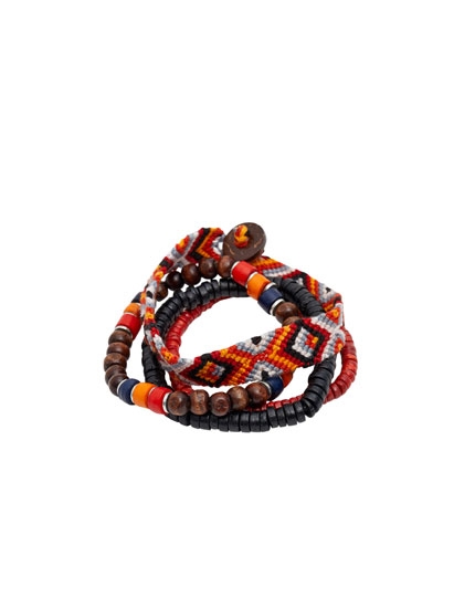 Beaded and thread bracelets