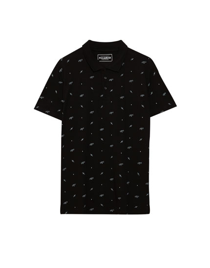 All over print polo shirt
