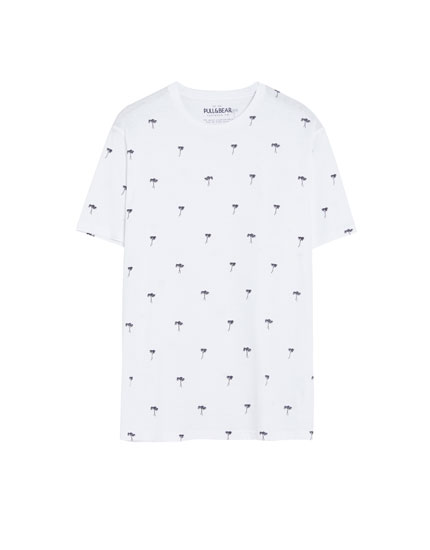 All-over palm tree print T-shirt