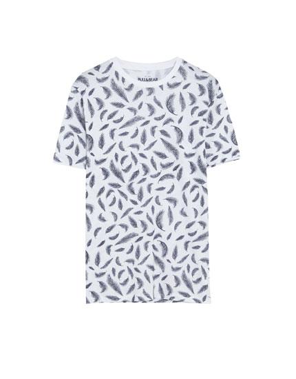 Leaf print T-shirt