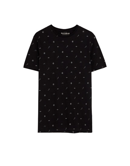 T-shirt med print allover