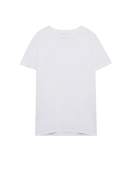 Short sleeve ecologically grown cotton T-shirt