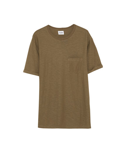 Basic t-shirt med lomme