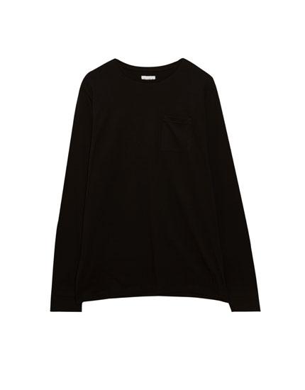 T-shirt manches longues poche