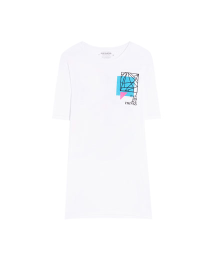 T-shirt with coloured graphic