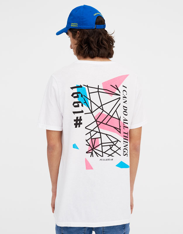 Short sleeve T-shirt with neon detail