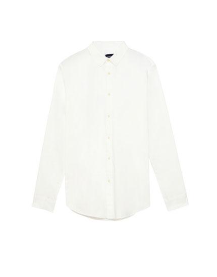 Camisa de sarja llisa