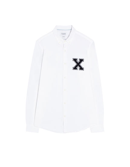Oxford shirt with a patch