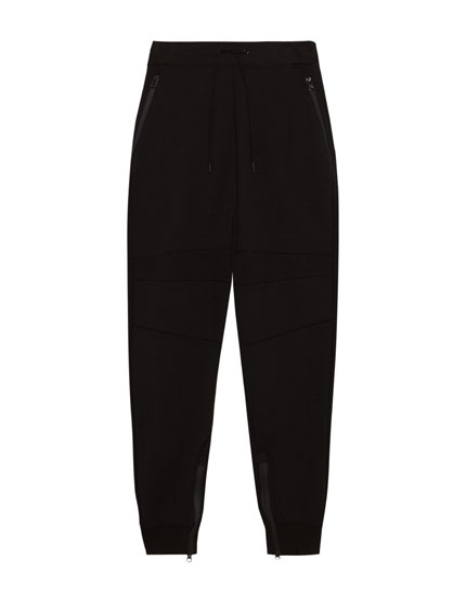 Technical jogging trousers with zips