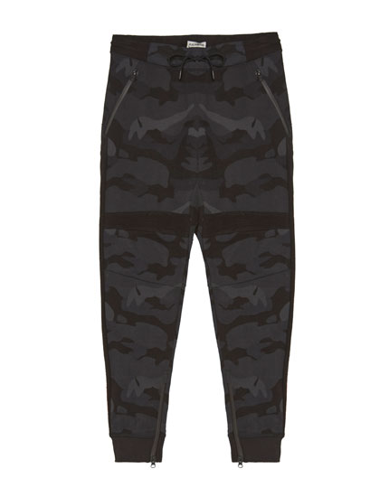 Camouflage ottoman jogging trousers