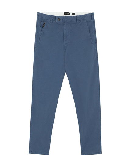 Chino trousers in various colours