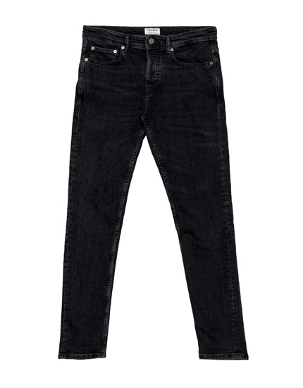 Slim fit jeans in zwart