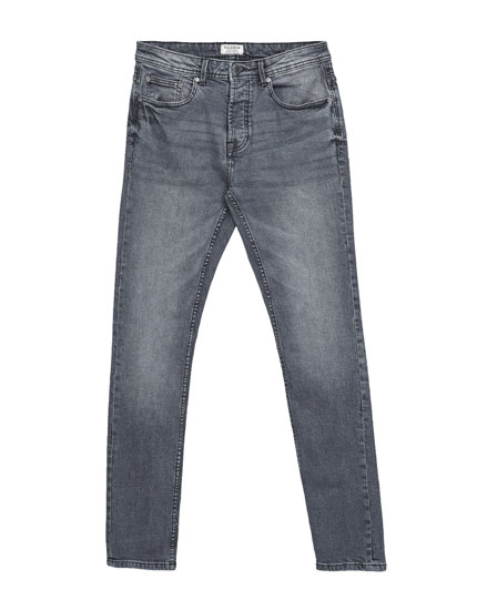 Grey slim fit comfort jeans