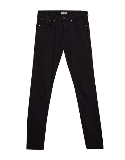 Schwarze superskinny-jeans