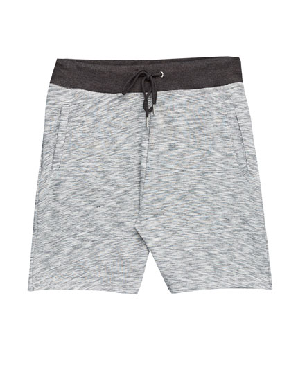 Jogging Bermuda shorts with zips