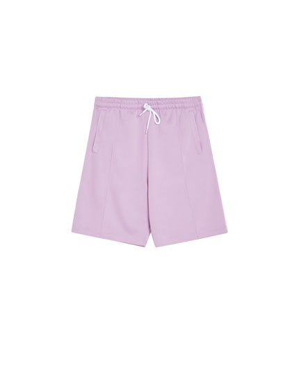 Drawstring jogging Bermuda shorts