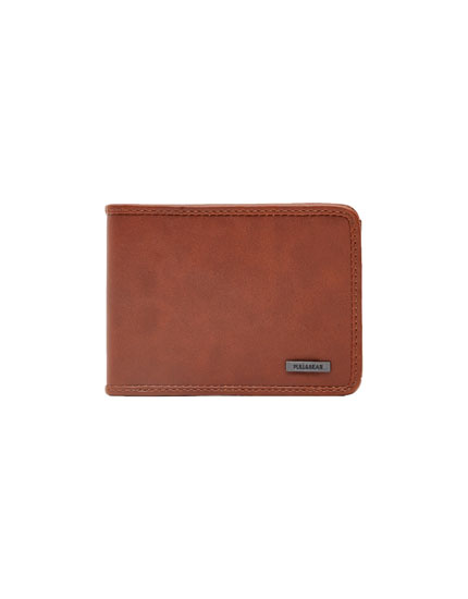 Basic brown faux leather wallet