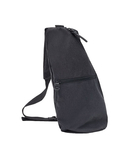 Crossbody backpack with zips