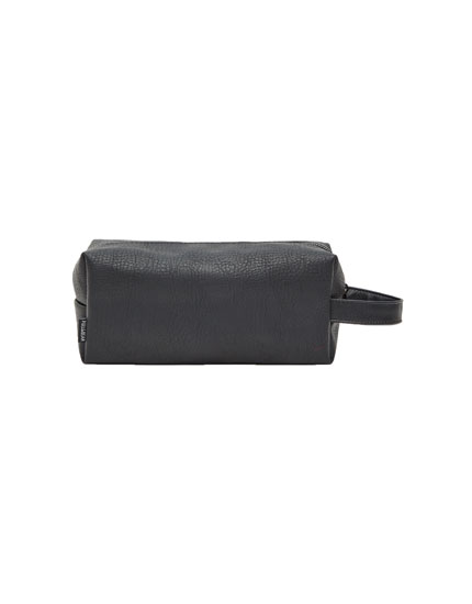 Toiletry bag with side handle