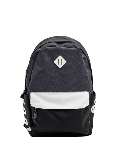 Backpack with colour panels