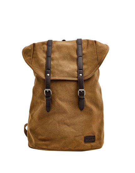 Brown backpack with straps