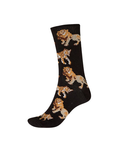 Long tiger and lion socks