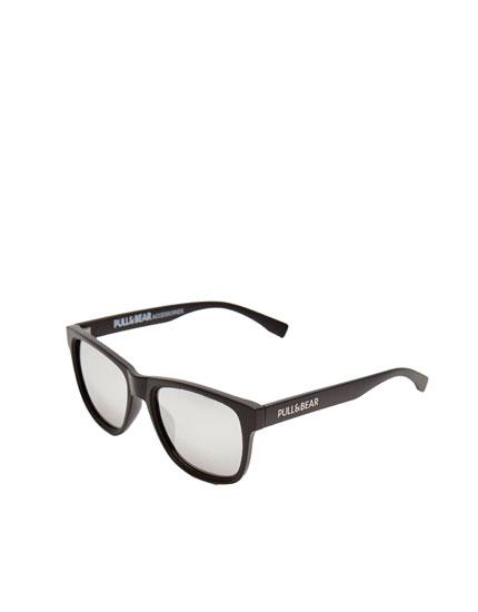 Silver lens sunglasses