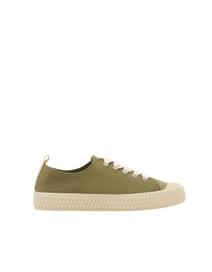 Join Life green plimsolls